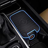 Car Wireless Charger Mount fit for Volvo XC90,XC60,S90L,V90 2017 2018 2019, QC 3.0 Fast Charging Compatible with iPhone Xs,XR,X,8, fit for Samsung S9+,S9,S8,S7,Note 8,Wireless Charging Devices