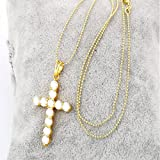 Juvel Jewelry Charms Fashion 4 Style Pendant Necklace 18 inch 18K Gold Plated Religion