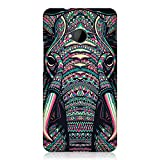 Head Case Designs Elephant Aztec Animal Faces Protective Snap-On Hard Back Cover Case for HTC One