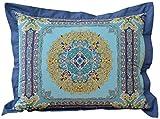 Nostalgia Home Fashions Blue Riviera Pillow Sham, Standard