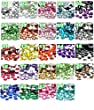 BlingGiftShop Pack of 1000 x Flat Back Rhinestone Diamante Gems / GEMS, DIAMANTES, WEDDING INVITATION DECORATION (Size: 2mm , 3mm , 4mm , 5mm) (5mm, Crystal)
