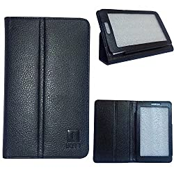 IndiSmack PU Leather Flip Case Cover Stand for iBall Slide 7236 2Gi Tablet- Black
