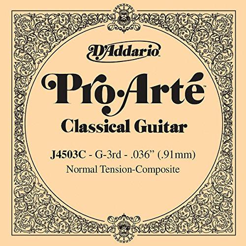 D'Addario J4503C Pro-Arte Composite Classical Guitar Single String, Normal Tension, Third String