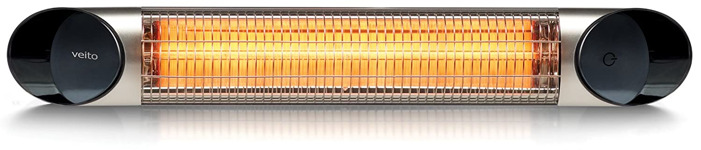 Design Infrarot Heizstrahler mit 2500 Watt inklusive Fernbedienung , 4 Heizstufen, Timerfunktion, Carbonstrahler als Terrassenheizer bzw. Terrassenstrahler ideal geeignet. Infrarotstrahler für Indoor und Outdoor.