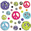 ROOMMATES RMK1860SCS Zebra Peace Signs Peel and Stick Wall Decals