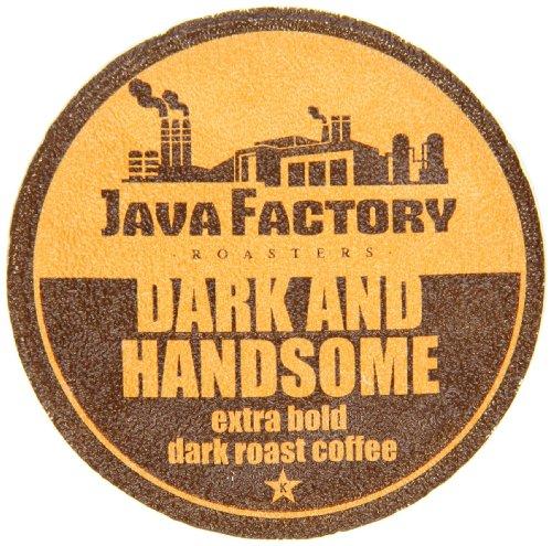 Java Factory Single Cup Coffee For Keurig K Cup Brewers, Dark And Handsome Dark Roast, 80 Count