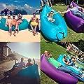 Aufblasbare Matte Luftmatratze Lounger Sofa Schlafsäcke,Compression Air Bag aufblasbarer Sessel,für Strand Garden Pool Sofa