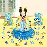 Disney Baby Mickey Mouse 1st Birthday Party Table Centerpiece Decoration Kit