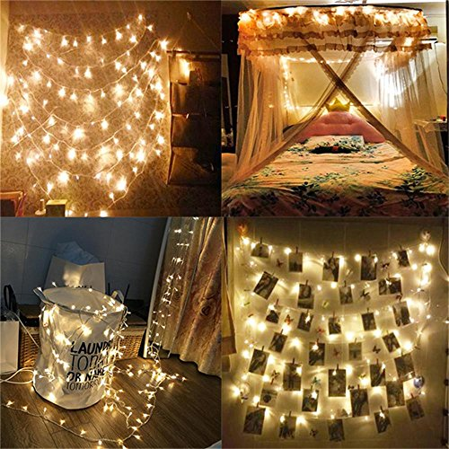 AMARS 66 feet 200leds Wedding LED Fairy Lights, LED String Lights Outdoor/Indoor 8 Modes for ...
