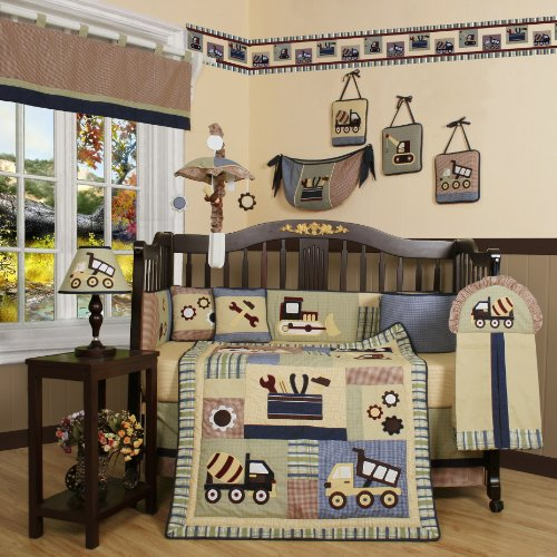 Boutique Brand New Geenny Baby Boy Constructor 13Pcs Crib Bedding Set New Born, Baby, Child, Kid, Infant