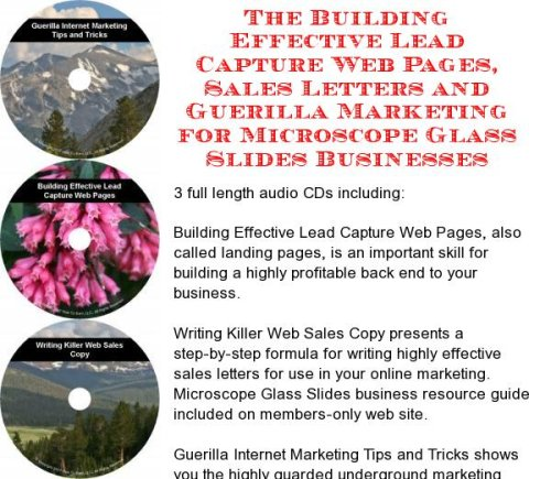 The Guerilla Marketing, Building Effective Lead Capture Web Pages, Sales Letters For Microscope Glass Slides Businesses