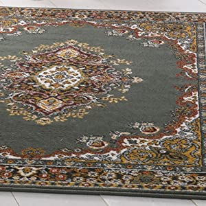 Flair Rugs Element Lancaster Traditional Rug, Green, 180 x 250 Cm by Flair Rugs