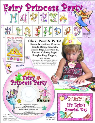 ScrapSMART - Fairy Princess Party Kit - Jpeg, PDF, and Microsoft Word Files (CDFPB162)