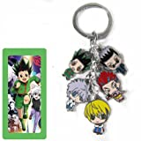 Hunter X Hunter Key chain Metal Figures Pendants with Key Ring (Color: green, Tamaño: small)