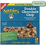 Annie's Chewy Gluten Free Granola Bars, Double Chocolate Chip, 0.98 Oz Bars, 5 Count (Pack Of 4)