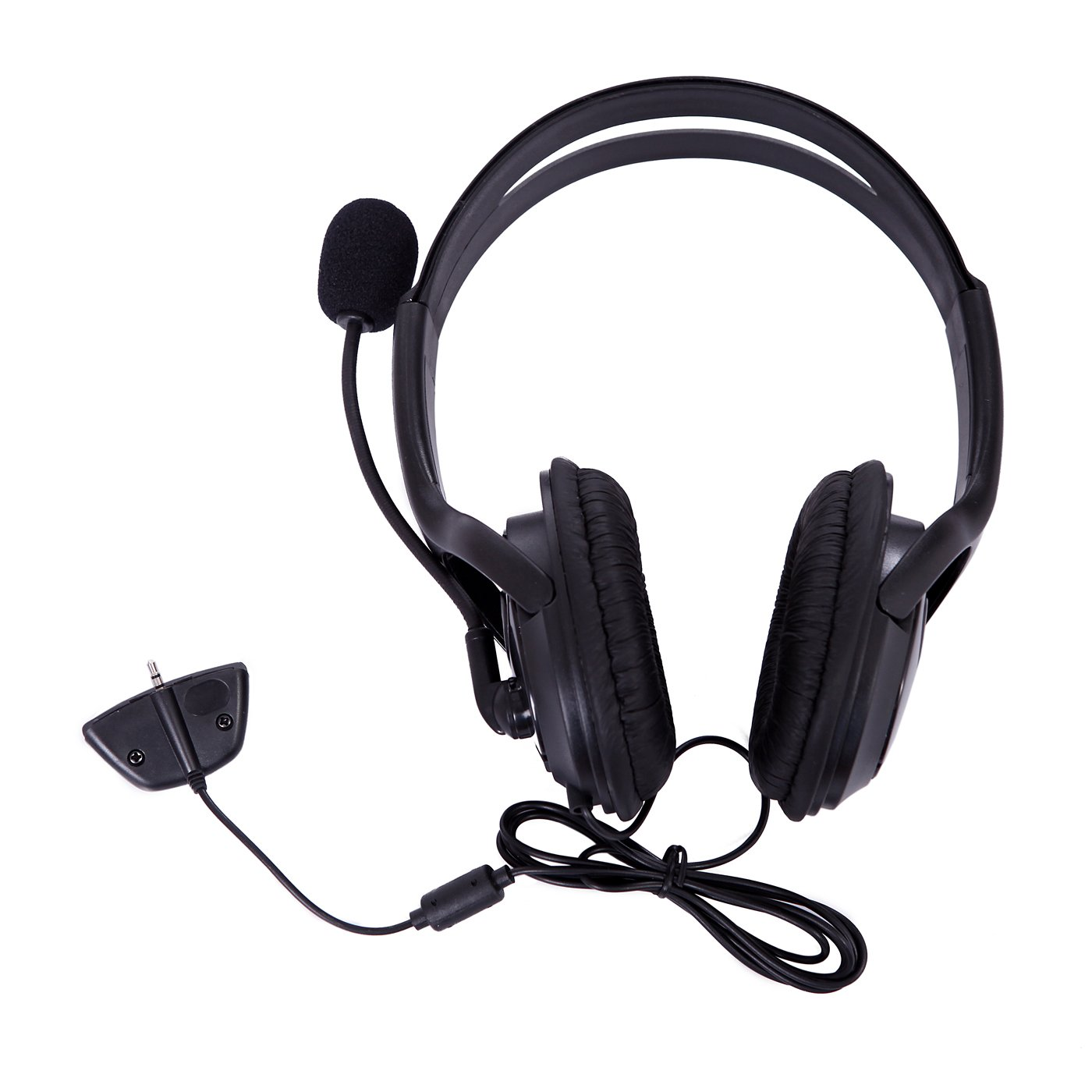 HDE Gaming Chat Headphone Headset with Microphone Mic for Microsoft Xbox 360 Live original xiberia v2 led gaming headphones with microphone mic usb vibration deep bass stereo pc gamer headset gaming headset