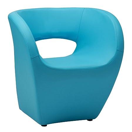 Protege Homeware Blue Leather Effect Aldo Chair