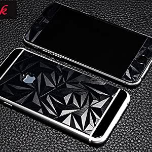 ScratchfreeShift Electroplated Mirror Finish Glossy Brushed Metal Effect Coloured 3D Diamond Front & Back Tempered Glass For Apple iPhone 4,4S