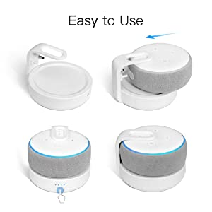 Battery Base for Dot 3rd Gen Smart Speaker, Rechargeable Battery Charger with 8 Hours of Playtime, White(Power Adapter is Not Included) (Color: White)