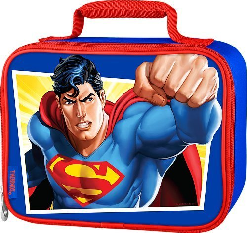 Thermos Superman Boy's Soft Lunch Kit - Blue with Red Trim