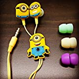 #9: KRESTO MINIONS (MORE MINIONS.MORE DESPICABLE) In-Ear Earphone,Includes 3 Additional Earplug Covers - Great For Kids, Boys, Girls, Adults, Gifts Stereo Dynamic Wired Headphones.