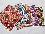 5 pieces Japanese Wrap cloth FUROSHIKI, Oriental WAGARA New