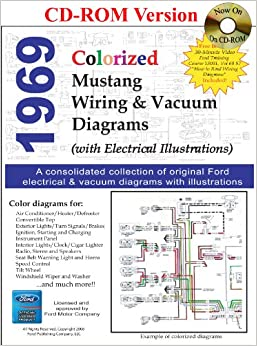 1969 colorized mustang wiring vacuum diagrams david e leblanc 9781603710282 books. Black Bedroom Furniture Sets. Home Design Ideas
