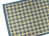 American Mills Houndstooth Polypropylene Indoor/Outdoor Area Rug, 5-Feet 3-Inch by 7-Feet 6-Inch, Blue