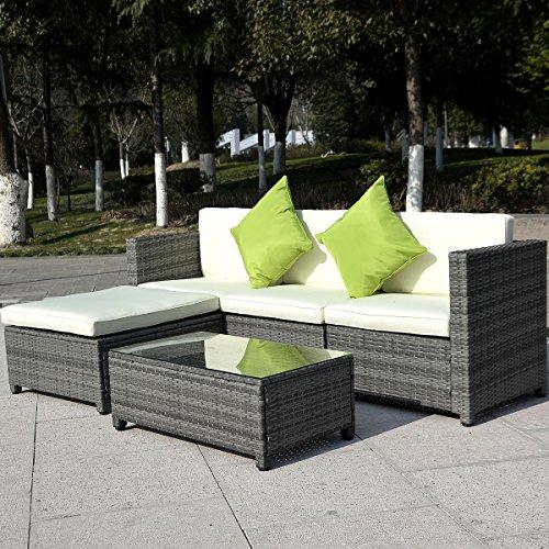 Terrific Tangkula 5Pc Outdoor Patio Sofa Set Sectional Furniture Pe Creativecarmelina Interior Chair Design Creativecarmelinacom
