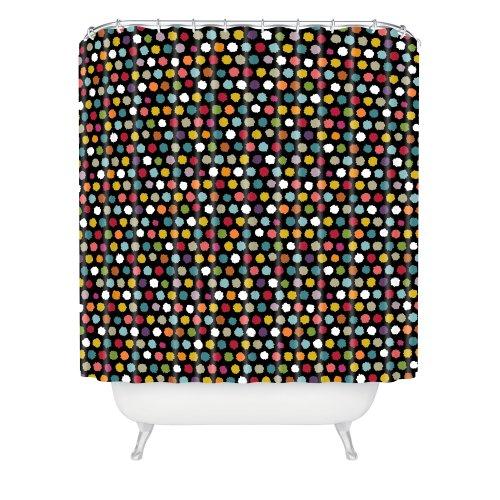 Deny Designs Sharon Turner Pom Pom Spot Shower Curtain, 69-Inch By 72-Inch front-452677