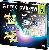 TDK 録画用DVD-RW CPRM対応 1-2倍速対応 5色カラーミックス キズや指紋ヨゴレに強いスーパーハードコート・ディスク 「超硬」シリーズ 5枚パック DRW120HCDMA5A