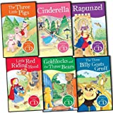 Parragon My First Fairtale StoryTime Book and CD 6 Books Collection Pack Set RRP: £24 (Goldilocks and The Three Bears, Rapunzel, The Three Little Pigs, Cinderella, Little Red Riding Hood, The Three Billy Goats Gruff)