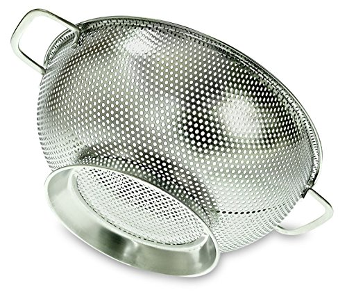 PriorityChef Colander, Stainless Steel 3 Qrt Kitchen Strainer With Large Stable Base (4 1 2 Quart Stock Pot compare prices)