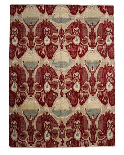 Darya Rugs Ikat Oriental Rug, Red, 9' x 12' 4