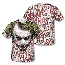 Batman Dark Knight Rises Joker Face All Over Print Front / Back T-Shirt