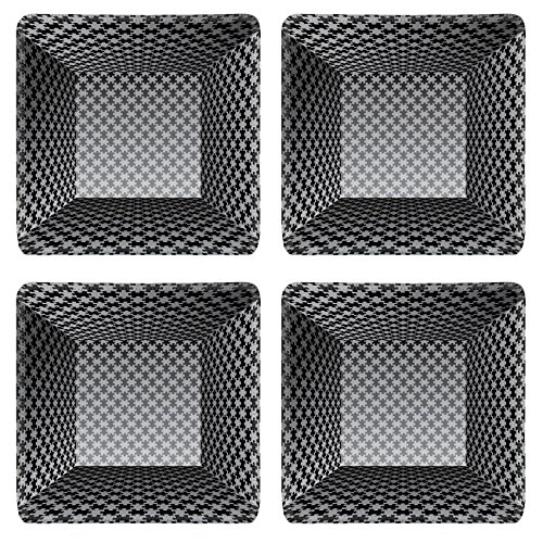 Liili Square Coasters 4 Pieces per order abstract vector interior with puzzle wallpapers Image ID 23291460