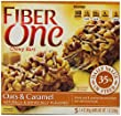 Fiber One Chewy Bars, Oats and Caramel, 7-Ounce Boxes (Pack of 12)