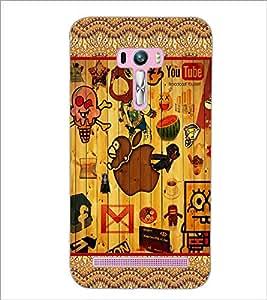 PrintDhaba Graffiti D-5097 Back Case Cover for ASUS ZENFONE SELFIE ZD551KL (Multi-Coloured)