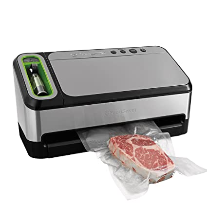 FoodSaver 4840 2-in-1 Vacuum Sealing System with Bonus Built-in Retractable Handheld Sealer, Starter Kit, Heat-Seal and Zipper Bags