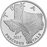 2017 - Texas Silver Round 39mm Brilliant Uncirculated