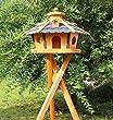 wooden bird stand