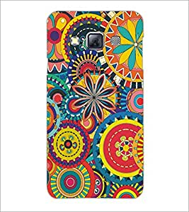 PrintDhaba Pattern D-5139 Back Case Cover for SAMSUNG GALAXY A3 (Multi-Coloured)