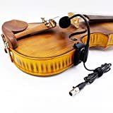 4/4 acoustic violin fiddle gooseneck clip condenser microphone for shure bodypack transmitter wireless system with 4 pin mini xlr connector