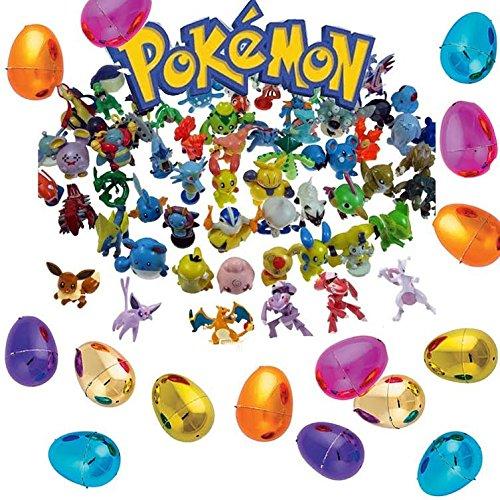 24 Pokemon Figures & 12 Legendary Metallic Easter Eggs
