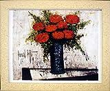 ベルナール ビュッフェ BERNARD BUFFET◆【赤い花】◆輸入アートプリント◆額装済み