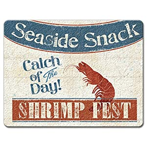 Highland Graphics Fresh Seafood Tempered Glass Cutting Board, 15 by 12-inch by Highland Graphics