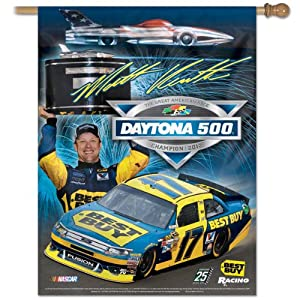Dale Earnhardt Jr. 2012 Daytona 500 Champion Vertical Flag: 27x37 Banner by WinCraft