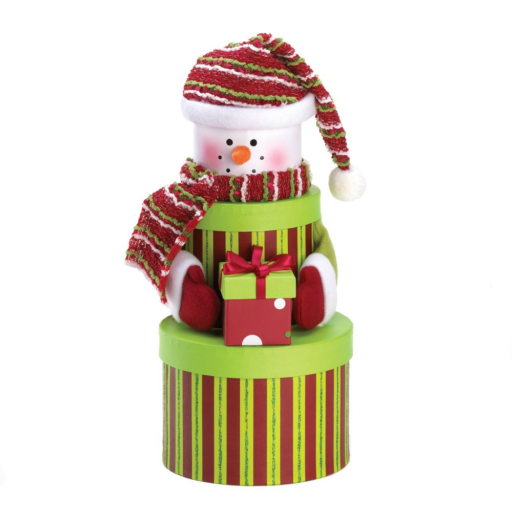 Snowman Gift Tower Baskets Christmas Wikii