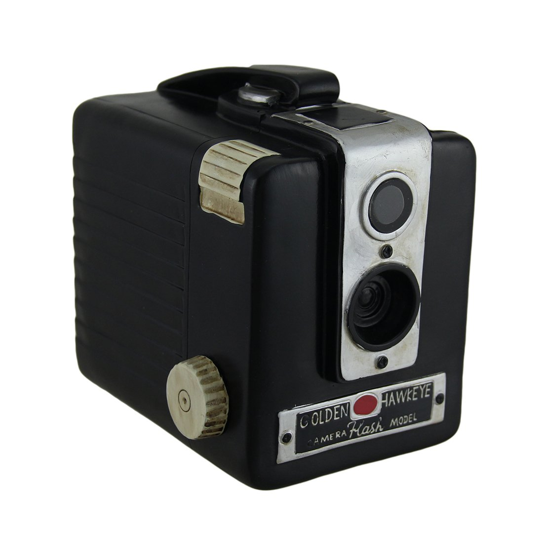 Retro Brownie Hawkeye Vintage Style Camera Coin Bank 0