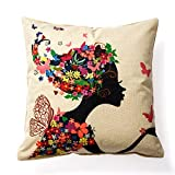 Pillowcase Covers, U'artlines Solid Pillow Case Decorative Cotton Linen Cushion Cover Pillowcase for Sofa Pillow Cover (Beauty)